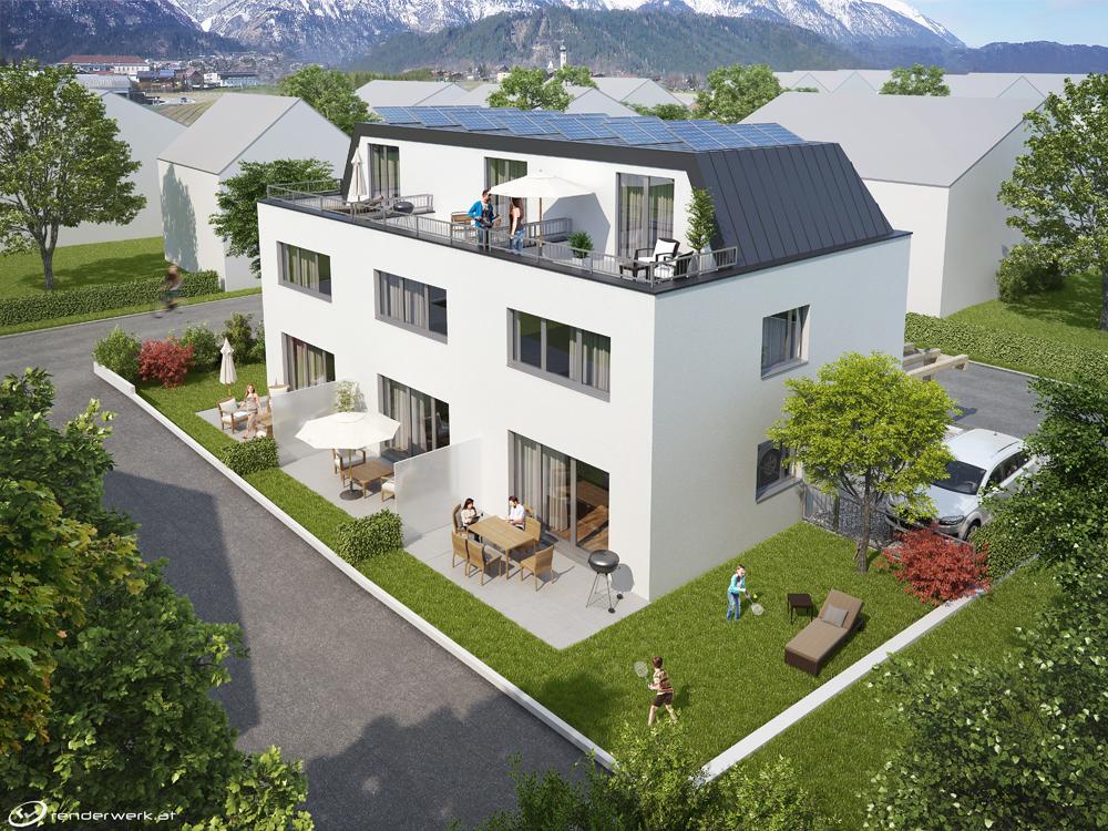 massivhaus verkauft 3 passivhaus reihenh user in mils bei hall massivhaus massivhaus. Black Bedroom Furniture Sets. Home Design Ideas