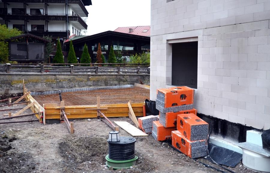 Bodenplatte Garage