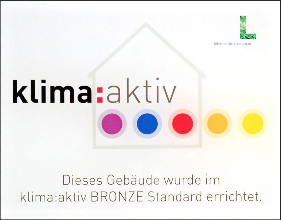 klima:aktiv Bronze Zertifikat